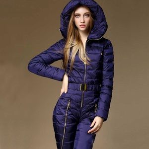 Blue snowsuit navy winter jumpsuit